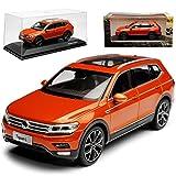 Paudi Volkwagen Tiguan II SUV L Allspace Orange 2. Generation Ab 2016 1/43 Modell Auto