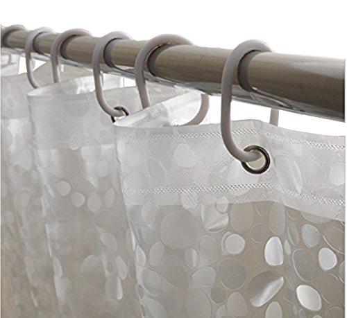 Kuber Industries PVC 20 MM Shower Curtain 7ft Transparent