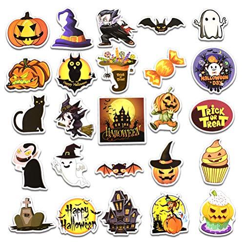 Stickeres Scary Wall Fenster Tür Kühlschrank Aufkleber Wandbilder selbstklebend wasserdicht für Halloween Dekoration Party Supplies Prop, 50PCS ()