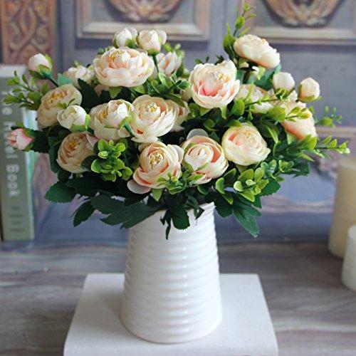 (MingXiao Rosa Frühling Künstliche Gefälschte Pfingstrose Blumenschmuck Home Hotel Room Decor)