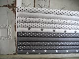 Lottashaus no179 10x Stoff Stoffpaket Weiß Grau Stoffe Patchwork Sterne Shabby chic