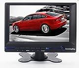 Sourcingbay, Verstellbarer Sockel, 17,8 cm (7Zoll), TFT, Farbe, LCD, Auto-Rückfahrkamera-Monitor – Native Auflösung 800* 480, Unterstützt HDMI/VGA/AV, Audioeingang