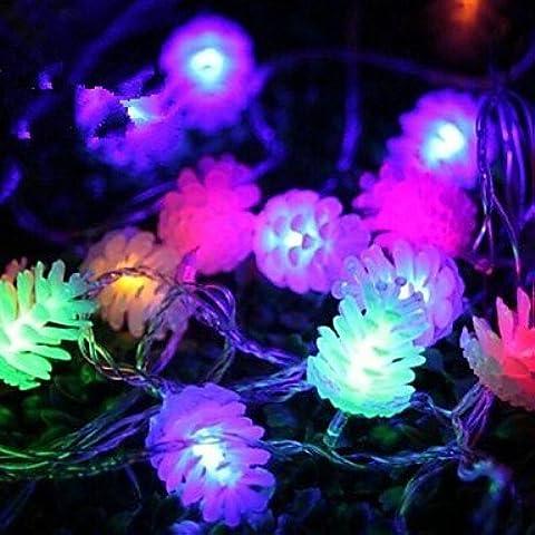 JRZ navidad pi?as 4.5m 28 llev¨® las luces de colores de cuerdas