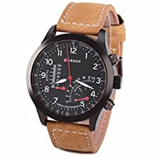 db5f36c19ec91 Sky Mart New Arrival Special Collection Analogue Black Dial Leather band  Men s Watch