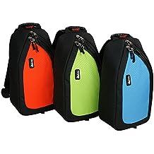 Unisex Mujeres Hombres bolsa de cámara SLR DSLR casos bolsa de cintura riñonera Triángulo pecho bolsa mochila cámara digital (cuerpo de la Cruz para Canon, Sony, Nikon 650d 6070d 7100