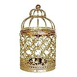Porte-Bougie Chandelier Bougeoir Birdcage pour atmosphère romantique et tranquille Convient aux fêtes, mariages, fêtes de Noël, vitrines et clubs hôteliers