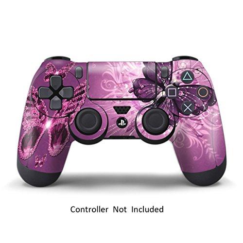 Ps4 pelli playstation 4 adesivi giochi ps4 joystick ps4 controller dualshock 4 vinile decalcomanie - lavender butterfies