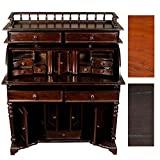CLP Sekretär MARQUIS handgefertigt aus Mahagoni-Holz, klassischer Kolonialstil, massiver Sekretär-Tisch, B 102 x T 57 x H 127 cm Dunkelbraun