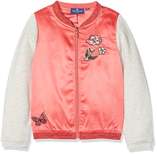 47f6de76eb71 TOM TAILOR Kids Mädchen Sweatshirt Bomber Jacket with Embro, Orange (Flashy  Coral 5458)
