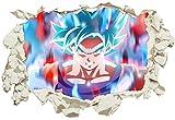 Unified Distribution Goku Dragon Ball Super - Wandtattoo mit 3D Effekt, Aufkleber für Wände und Türen Größe: 92x61 cm, Stil: Durchbruch