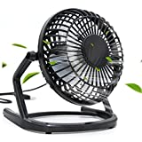 Mini Ventilateur USB , Ubegood Plastique ventilateur de bureau USB [360° rotatif] mini Ventilateur avec ON/OFF portatif ventilateur de table , Noir