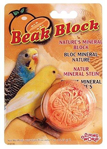 LIVING WORLD Blocco Minerale Cibo per Uccello Arancione