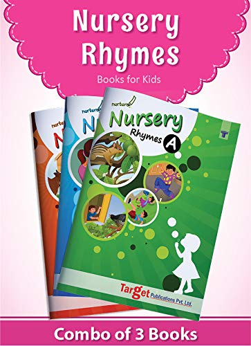 Nurture English Popular Nursery Rhymes Books for Kids | 2 to 5 Year Old Babies | Short Poems with Colourful Pictures for Preschool and Kindergarten Children | Set of 3 Books with 78 LKG and UKG Rhymes