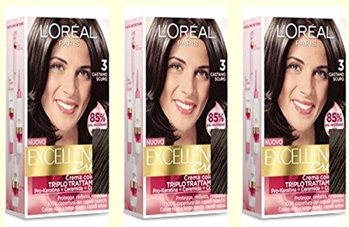 3-x-loreal-excellence-creme-3-castano-scuro-tintura-per-capelli