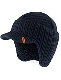 Scruffs Peaked Beanie Hat Navy Insulated Warm Knitted Thermal Winter Stylish Peak Cap