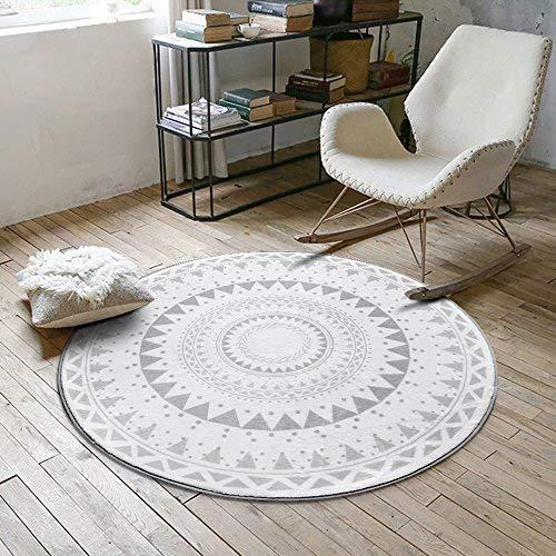 BAIF Geometrische Form Mode Hause Runde Teppich, Couchtisch Schlafzimmer Wohnzimmer Heimcomputer Stuhl Drehstuhl Decke (Größe: 60 cm)