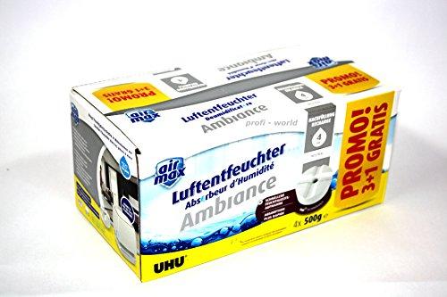 Preisvergleich Produktbild UHU Nachfülltabs airmax Ambiance, Promopack 3 + 1 GRATIS