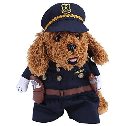 Delaman Hundebekleidung Hund Kleidung Polizei Cosplay Thema Party Kostüme für Tiere Katze Hund ( Size : XL ) (Winter Themen Kostüm Party)