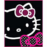 Hello Kitty 'Black Outline' Printed Fleece Blanket 120cm x 150cm by Hello Kitty
