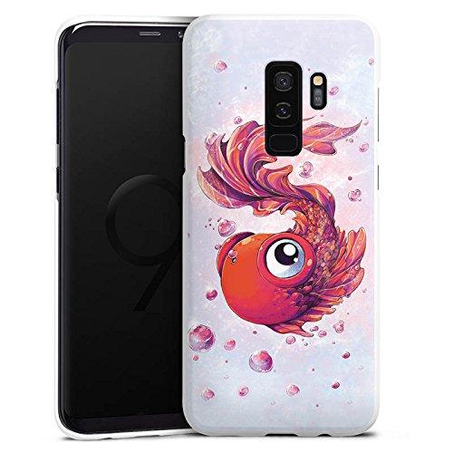 DeinDesign Hülle kompatibel mit Samsung Galaxy S9 Plus Duos Handyhülle Case Fisch Goldfisch Comic -