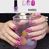 Vernis à Ongles, Watopi 6 ml Vernis à ongles à changement de température Contrôle de la température des couleurs