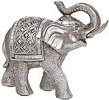 Maturi–Raised tronco Buda estilo figura de elefante, de metal, multicolor, 16.76X 5,08X...