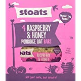 STOATS Raspberry & Honey Porridge Oat Bar - Lot de 2