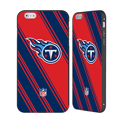 Ufficiale NFL Marmo 2017/18 Tennessee Titans Nero Cover Contorno con Bumper in Alluminio per Apple iPhone 6 Plus / 6s Plus Righe