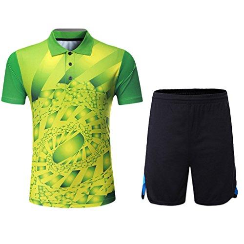 Kuncg Outdoor Sportswear Personalisierte Für Herren und Jungen Badminton Tragen Lässigen Grün 4XL
