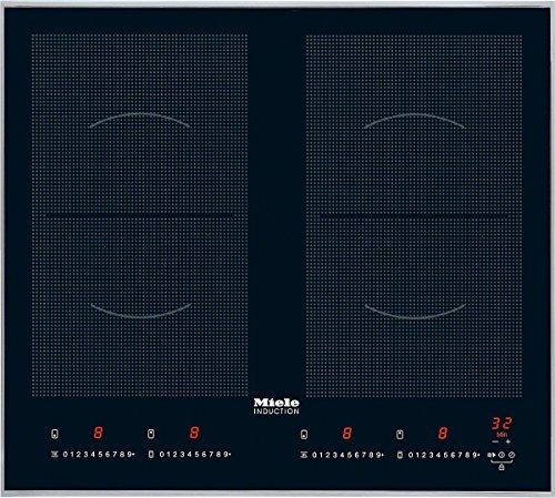 Miele KM6328-1  Kochfeld Elektro / Induktion / 62,6 cm / Intuitive Schnellanwahl per Zahlenreihe Direktanwahl / Ansprechendes Design 626 mm breit mit umlaufendem Rahmen / edelstahl