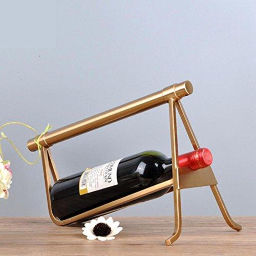 HHRONG Moderne Minimalistische Weinregal Kreative Eisen Wohnzimmer Weiche Dekoration Modell Wohnaccessoires Handwerk Wein Rack - Wein Rack Französisch