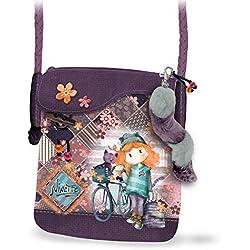 Forever Ninette Forever Ninette Bicycle-Sac à Bandoulière Flap Walk Bolso Bandolera 21 Centimeters Multicolor (Multicolour)