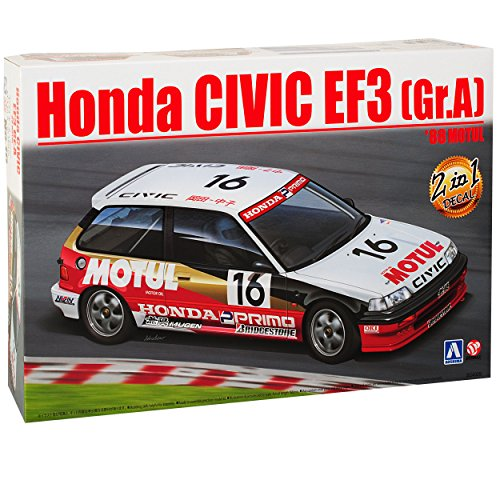 Modell-auto-kits Civic Honda (Honda Civic EF3 Gruppe A 1988 Motul 4. Generation 1987-1991 24009 Nr 10 Kit Bausatz 1/24 Aoshima Beemax Modell Auto)