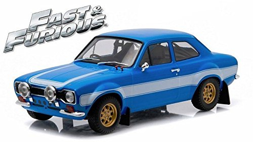 New 1:18 GREENLIGHT ARTISAN COLLECTION - FAST & FURIOUS BRIAN'S BLUE 1974 FORD ESCORT RS2000 MKI Diecast Model Car By Greenlight by Greenlight (1 18 Scale Diecast Greenlight)