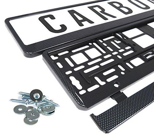 Kennzeichenhalter Nummernschildhalter Carbon Kennzeichenhalterung (schwarz - carbon) -