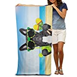 Sula-Lit Brasilien Französische Bulldogge 100% Polyester Dusche Handtuch Stuhl Dick Quick Dry Leicht Handtücher Decke