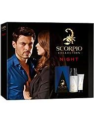 Scorpio Collection Night Coffret d'Eau de Toilette Flacon de 75 ml + Déodorant Atomiseur 150 ml + Gel Crème pour...