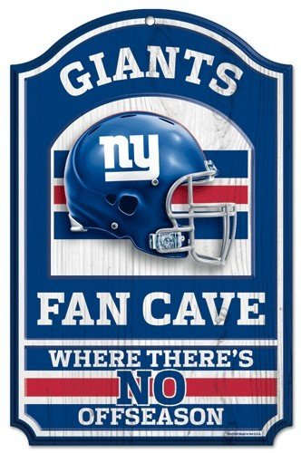 New York Giants Holz Schild - 27,9 x 43,2 cm Fan Cave Design