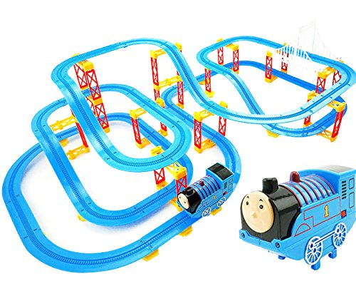 Kiditos Electronic Thomas & Friends Train Tracks Racer Educational Building Blocks with Sound & Light