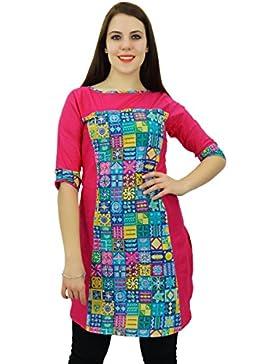 Phagun Diseñador algodón Kurta étnico floral Anarkali Kurti mujeres vestido ocasional