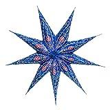 Papierstern / Weihnachtsstern Stella blau / Papierstern Premium 9