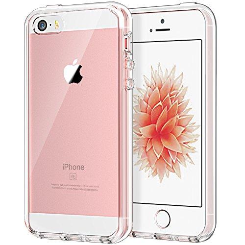 JETech iPhone SE 5 5s Hülle Tasche Schutzhülle Case Cover Bumper Anti-Kratz Zurück (HD Clear) (Iphone 4s Rücken)