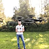 Cewaal Versión mejorada x5c-1 Empaquetado de espuma Mando a distancia de cuatro ejes, Quadcopter Drone con una sola tecla Retorno Modo sin cabeza 3D Tumbling