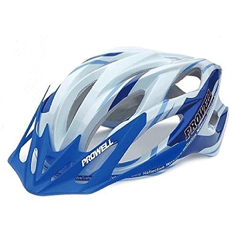 Prowell 55R Phoneix casco da bicicletta (blu bianco, Medium)