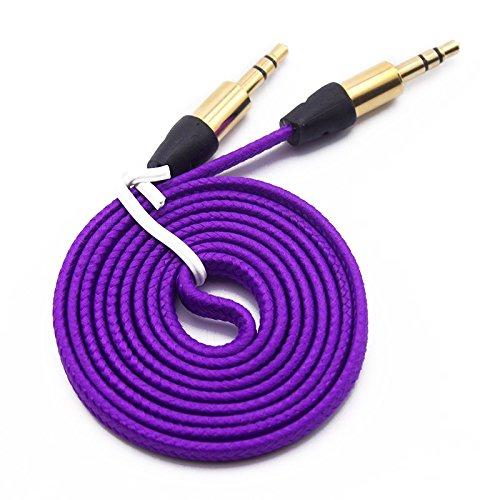 Interesting® 1M starke geflochten 3,5 mm männlich, männliche Auto Aux Audio Kabel für iPhone Handy