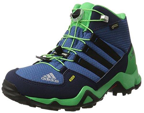 adidas Unisex-Kinder Terrex Mid GTX Wanderstiefel, Blau (Azubas/Negbas/Verene), 31 EU