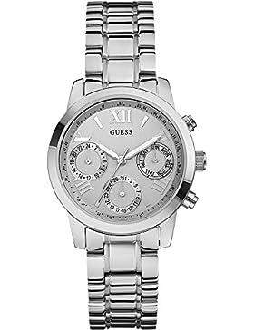 Guess Damen-Armbanduhr Analog Quarz Edelstahl W0448L1