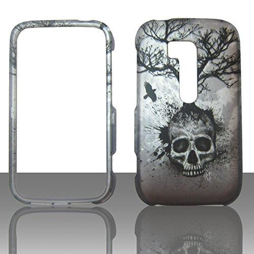 2D Baum Skull Nokia Lumia 822/Atlas Verizon Schutzhülle Cover Hartschale Handy Snap auf Cover Case Protector gummierte Matte Oberfläche Hard Shells