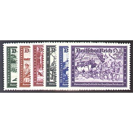 Goldhahn Deutsches Reich Nr. 773-778 gestempelt Postkameradschaftsblock II 1941 Briefmarken für Sammler