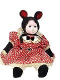 novità vestiti carnevale travestimento maschera cosplay halloween gioco personaggio film minnie topolina topoletta mouse vestitino copricapo cintura pantalone copriscarpe bimba neonata tg 9 12 mesi colore bianco rosso